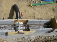 Préparation des évacuations du drain